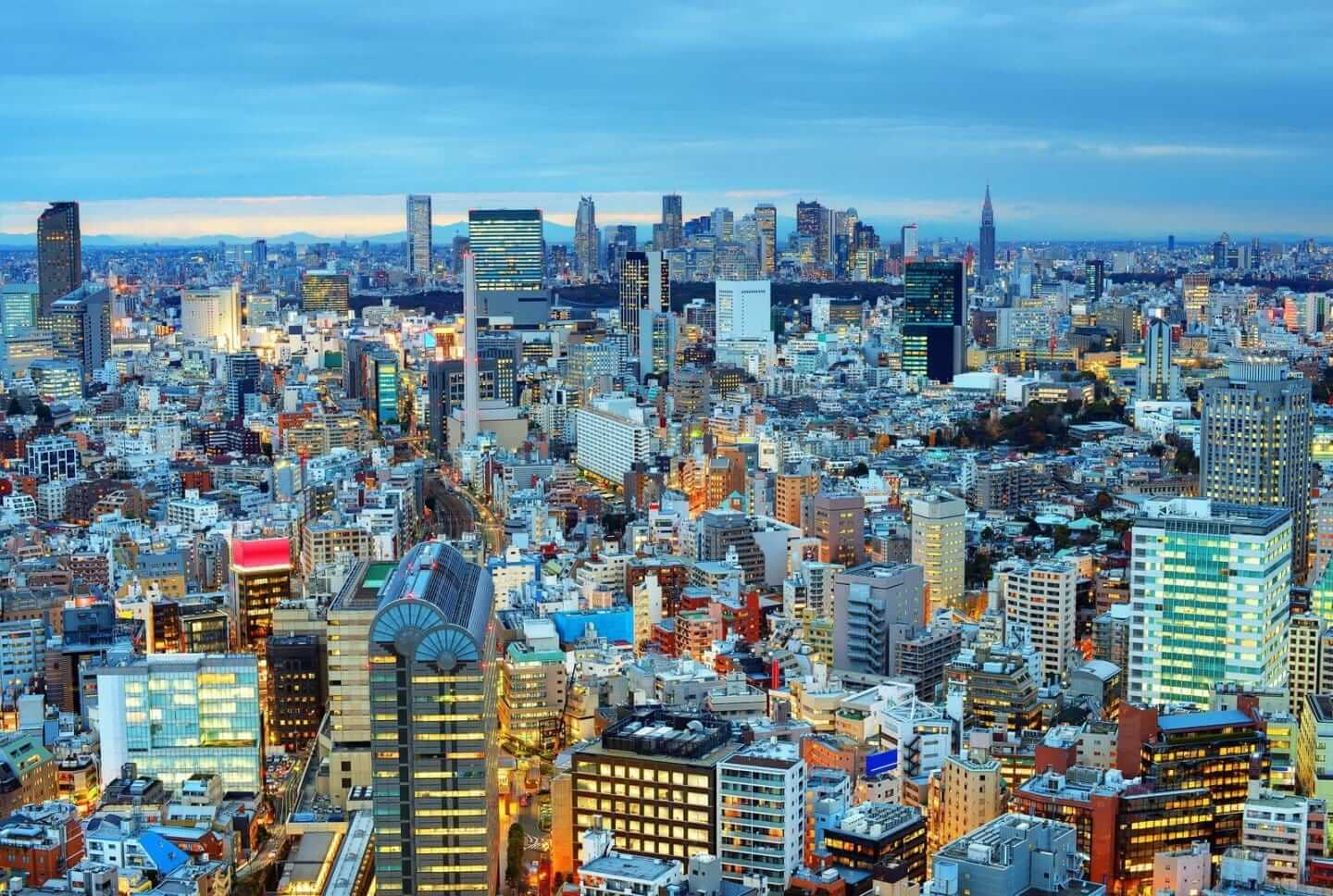 Tokyo skyline featured in Boutique Japan 8-day sample itinerary