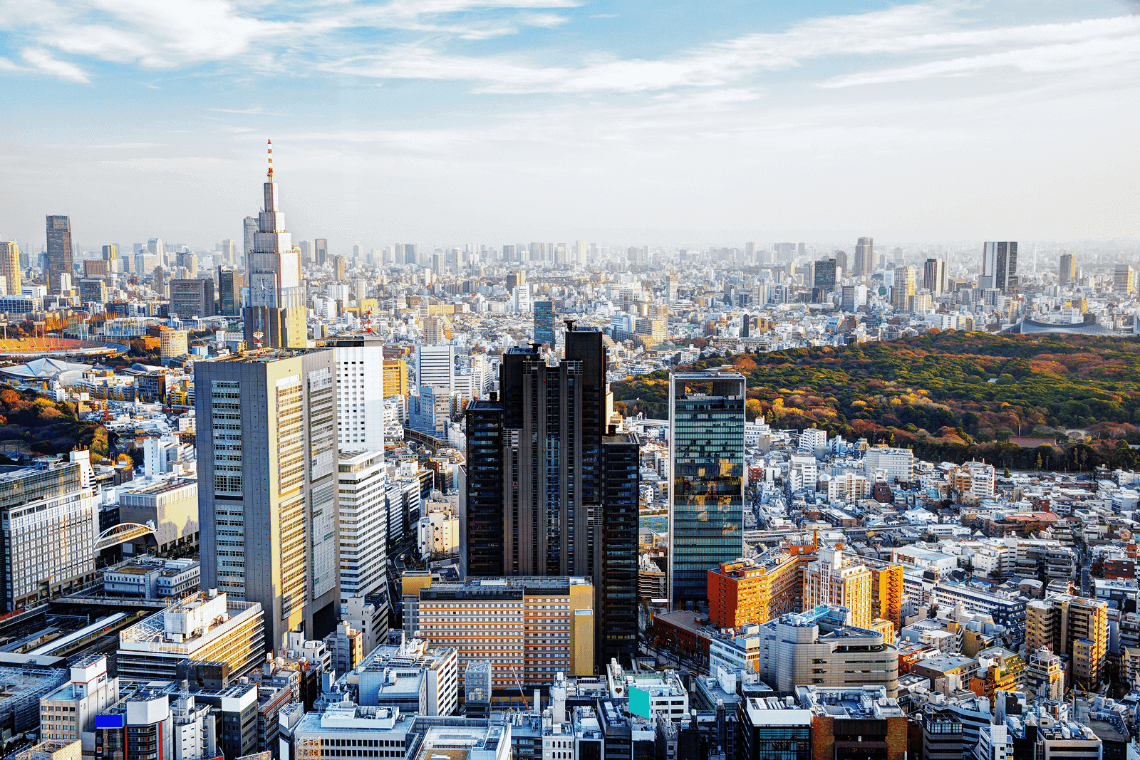 Tokyo skyline. Two Weeks in Japan, A Perfect Itinerary by Boutique Japan