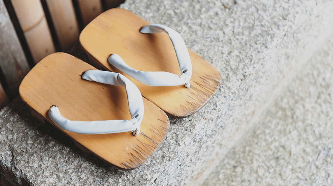 Traditional Japanese shoes, geta clogs