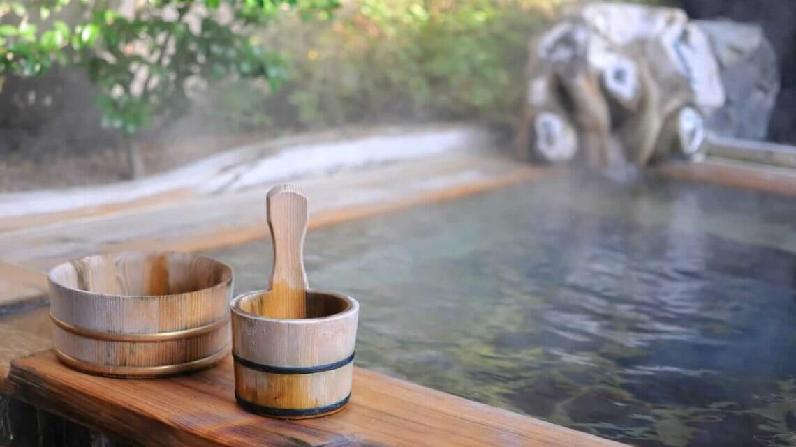 A traditional Japanese onsen